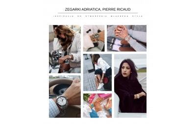 Zegarki ADRIATICA, PIERRE RICAUD inspracją do stworzenia własnego stylu